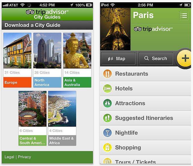 11 Apps Essenciais para Quem vai Viajar Trip Advisor City Guides