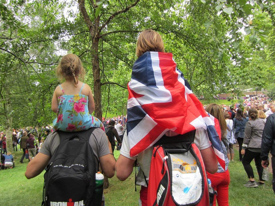 Em Londres com a familia